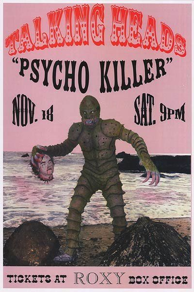Talking Heads Psycho Killer Poster